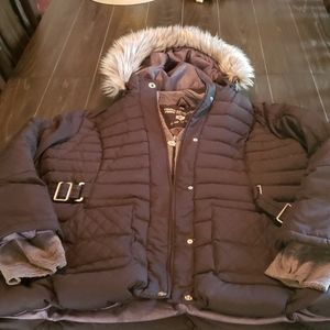 New LANE BRYANT $99 BLACK Quilted BOMBER Jacket PUFFER Coat Plus Size 22W
